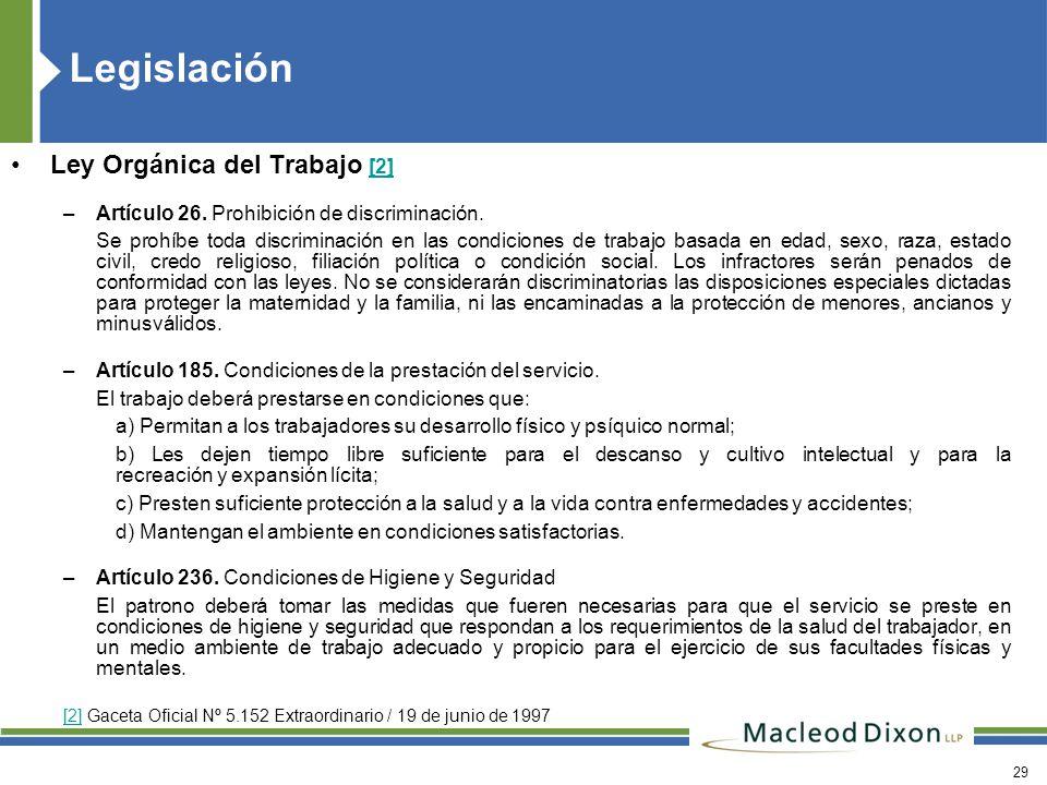 Legislación Ley Orgánica del Trabajo [2]